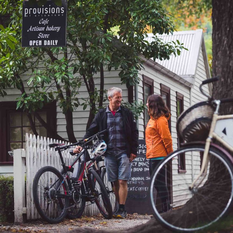 Heading in for a coffee, Provisions Cafe, Arrowtown
