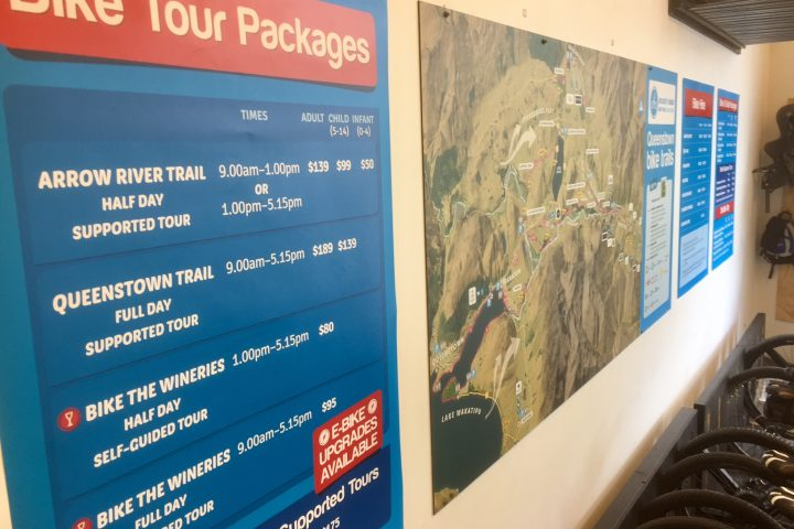 Wall sized trail map.