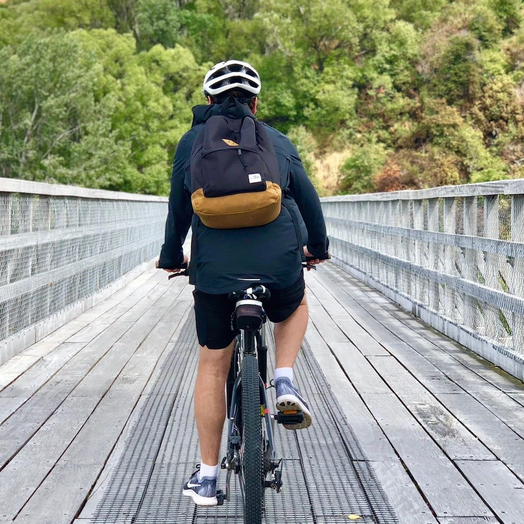 Rider On Old Shotover Bridge