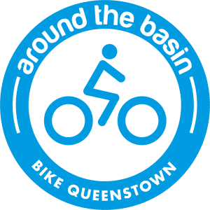Around The Basin Bike Queenstown Logo Medium