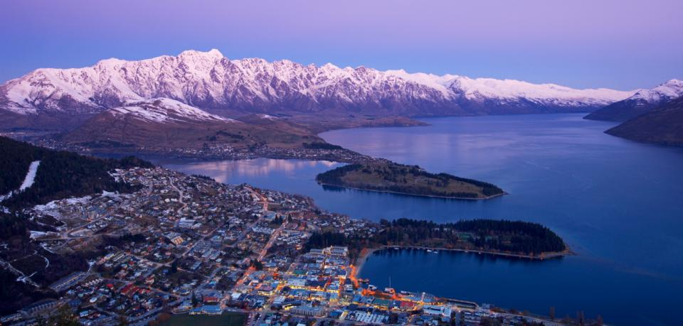 Queenstown from skyline normal winter