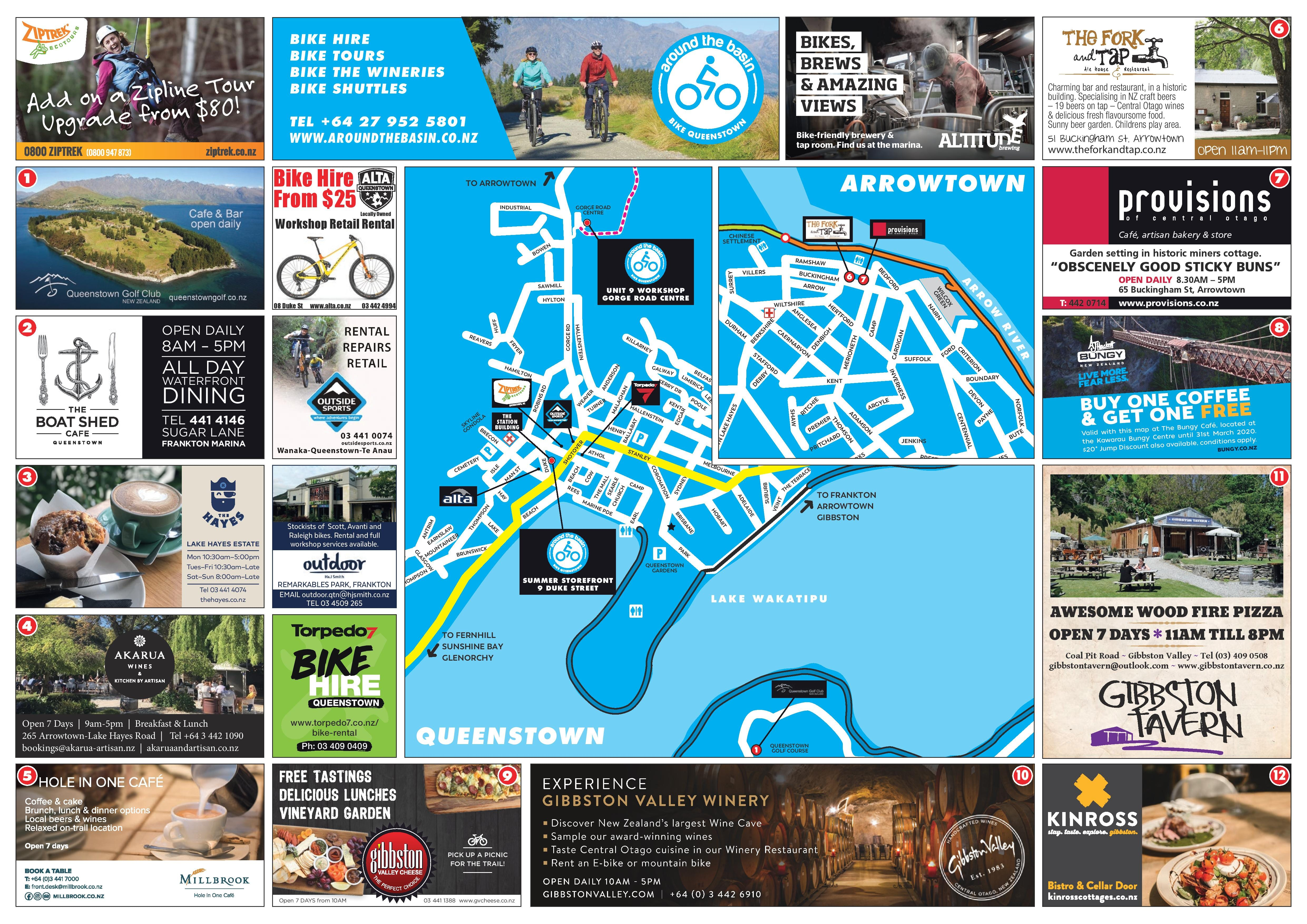 Queenstown Trail Map | Back
